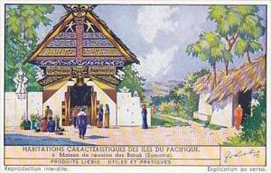 Liebig Vintage Trade Card S1390 Dwellings Of Pacific Islands 1939 No 6 Sumatra