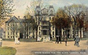 LPM13 Lansing State  School Blind   Michigan Postcard