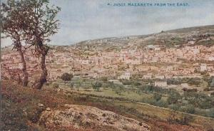 Nazareth From The East Old Aerial Antique Postcard