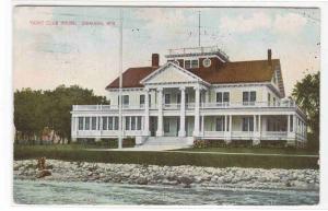 Yacht Club House Oshkosh Wisconsin 1910 postcard