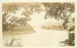 McVeytown Pennsylvania Juniata River C-1910 RPPC Photo Postcard 21-7280