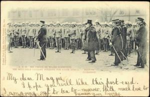 BOER WAR, Prince of Wales Inspecting Cavalry (1902)