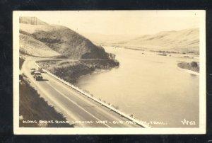 RPPC ALONG THE SNAKE RIVER IDAHO ON THE OLD OREGON TRAIL REAL PHOTO POSTCARD