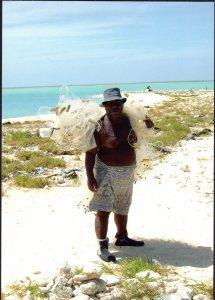 Kiribati - Fisherman with nets