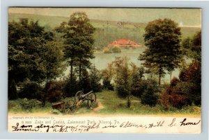 Altoona PA, Lake & Casino, Lakemount Park, Vintage Pennsylvania c1906 Postcard