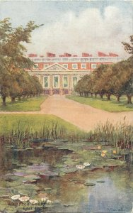 Postcard England London Hampton Court Palace east front water lilies pond view