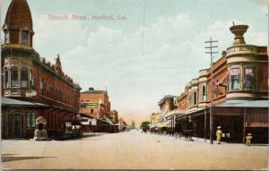 Seventh Street Hanford CA California c1915 Postcard D81