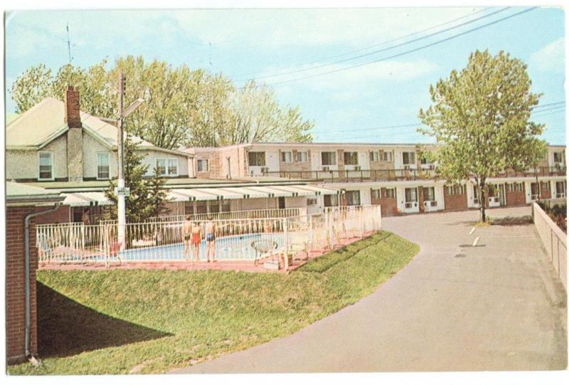Canada, Greetings from GLEN MANOR MOTEL, Kingston, Ontario, unused Postcard