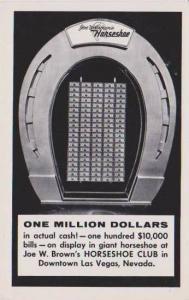 Giant One Million Dollar Horseshoe, Joe W. Brown's Horseshoe Club, Downtown L...