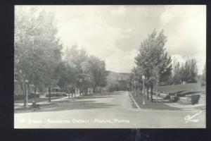 RPPC RAWLINS WYOMING RESIDENCE STREET SCENE VINTAGE REAL PHOTO POSTCARD