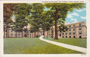 Iowa Cedar Rapids Vorhees Quadrangle Coe College 1950 Curteich