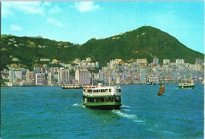 Birds Eye View Central Trade District Hong Kong Postcard Continental View Card