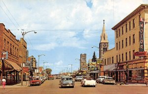 3rd Street North US 30 Cars Drug Store Laramie Wyoming postcard