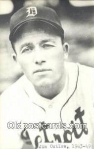 Jim Outlaw Base Ball Postcard Detroit Tigers Baseball Postcard Post Card  Jim...