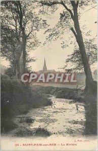 Old Postcard Saint Pair sur Mer La Riviere