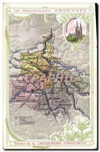 Postcard Old MAPS Chocolaterie d & # 39Aiguebelle Mezieres Ardennes