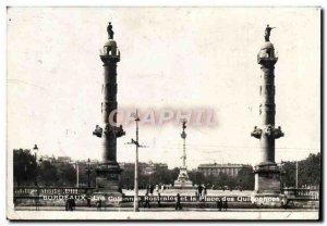 Old Postcard Bordeaux Rostral Columns And The Place Des Quinconces