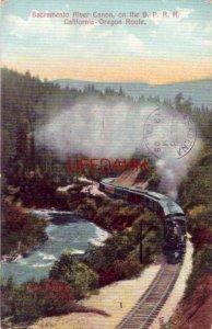 SACRAMENTO RIVER CANON, ON THE S. P. R.R., CALIFORNIA - OREGON ROUTE 1909