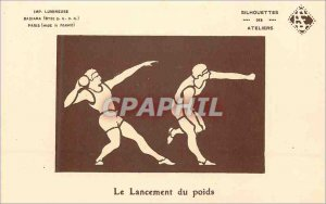 Old Postcard The Launch Weight Sports