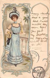 Fashion Fancy Dress Hat Glamorous Lady Woman Dame Femme 1904 art nouveau