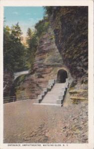 Entrance To Amphitheatre Watkins Glen New York Curteich