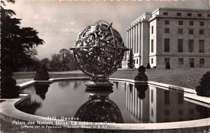 Switzerland Postcard Geneve Palais des Nations Unies La Sphere Armillaire
