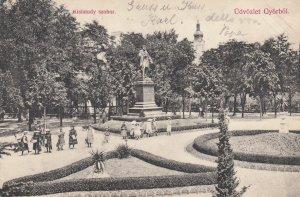 Kisfaludy szobor , Udvozlet Gyorbol , Hungary , 1905
