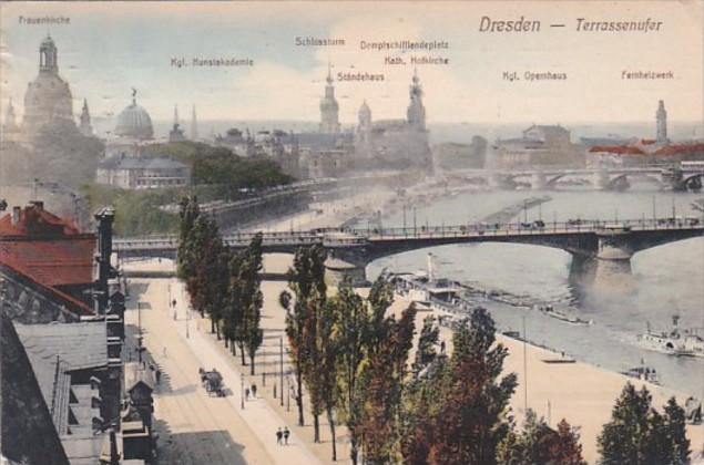 Germany Dresden Panorama 1912