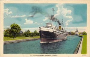 Steamship , Saulte Ste Marie , Ontario , Canada , PU-1948