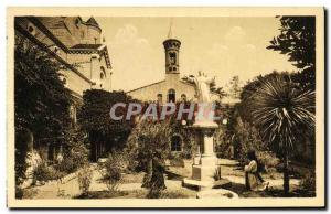 Old Postcard Ile Saint Honora Jadin Monastery of the Virgin in the center of ...