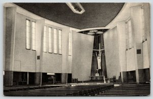 Kansas City Missouri~St Francis Xavier Catholic Church Interior~Jesuit~1951 B&W
