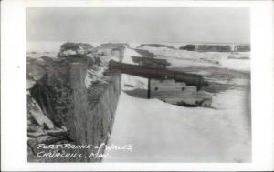 Churchill Manitoba Fort Prince of Wales Real Photo Postcard #2 CAnNONS