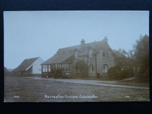 Essex COLCHESTER Recreation Ground & Park Keeper c1916 RP Postcard