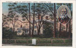 Massachusetts Cambridge Elmwood Home Of James Russell Lowell
