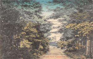 Camden New York~Forest Park Trail Loop~Shelter at End~1908 Handcolored Postcard