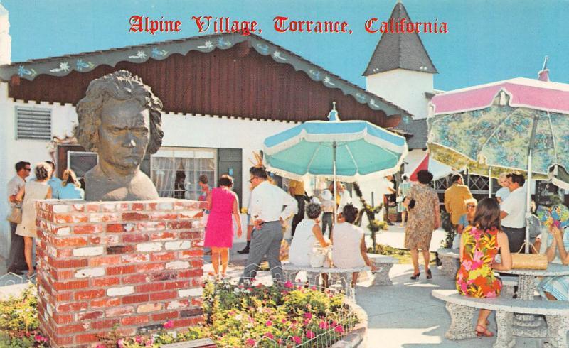 Alpine Village, Torrance, California, Plastichrome Postcard, Unused