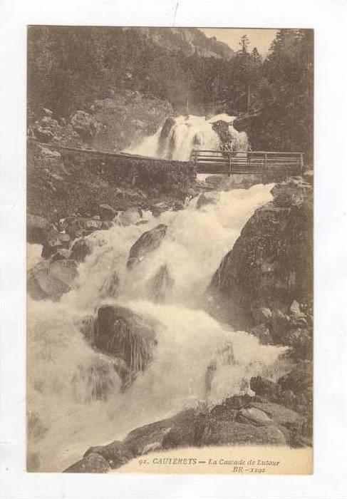 La Cascade De Lutour, Cauterets (Hautes-Pyrénées), France, 1900-1910s