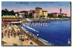 Old Postcard Saint Raphael La Reserve and Boulevard Felix Martin Children