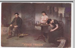 Political; 'Free Trade' PPC Unposted, Tory Anti Free Trade, Plain Back 1