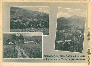 05863   CARTOLINA d'Epoca: LECCO - CREMENO E CASSINA VALSASSINA