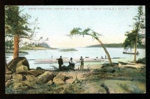 dc560 - LAKE ST JOHN Quebec c1907-10 Postcard