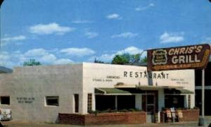 Chris's Grill Colorado Springs, CO, USA Postcard Post Cards Old Vintage Antiq...