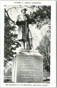 Ironton, Missouri Postcard Ulysses S. Grant Memorial Statue Civil War Monument
