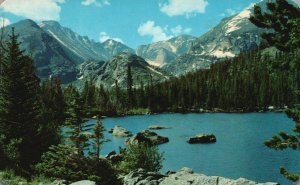 Rocky Mountain Nat'l Park, CO, Bear Lake, 1962 Chrome Vintage Postcard g8374