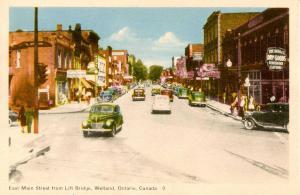 Canada - Ontario, Welland. East Main Street from Lift Bridge
