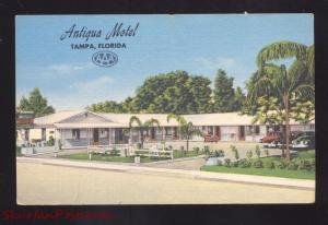 TAMPA FLORIDA ANTIGUS MOTEL VINTAGE LINEN ADVERTISING