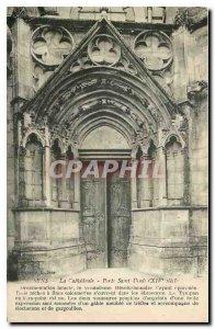 Old Postcard Sens La Cathedrale Porte Saint Denis