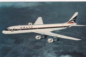 DELTA DC-8 Fan Jet Airplane , PU-1974