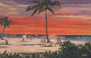 Florida Miami Beach At Sunrise Curteich