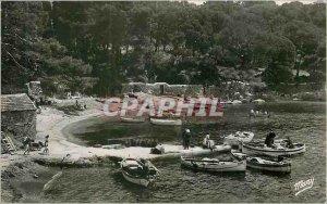Postcard Modern Surroundings of Hyeres Giens Port of Niel Boat